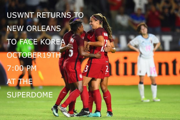 US Women's National Team Returns to Louisiana