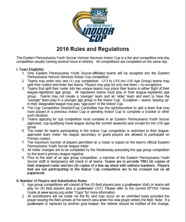 2016 Rules and Regu;ation