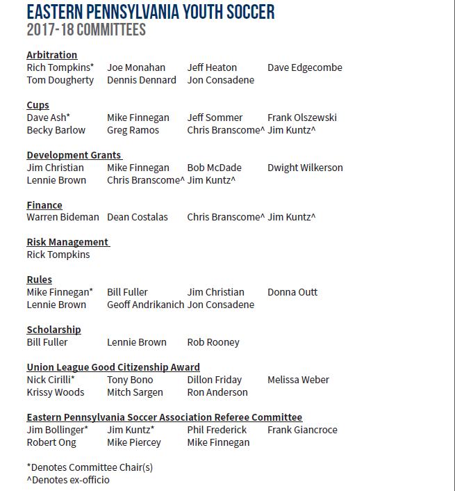 2017-18 committees