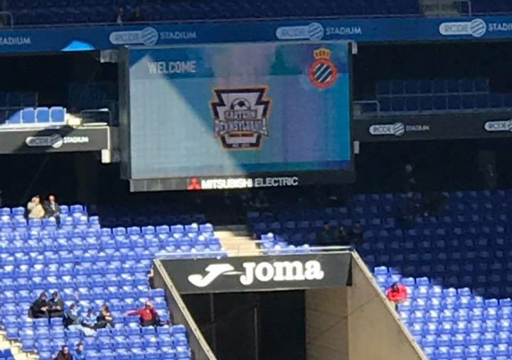 On the screen at Espanyol