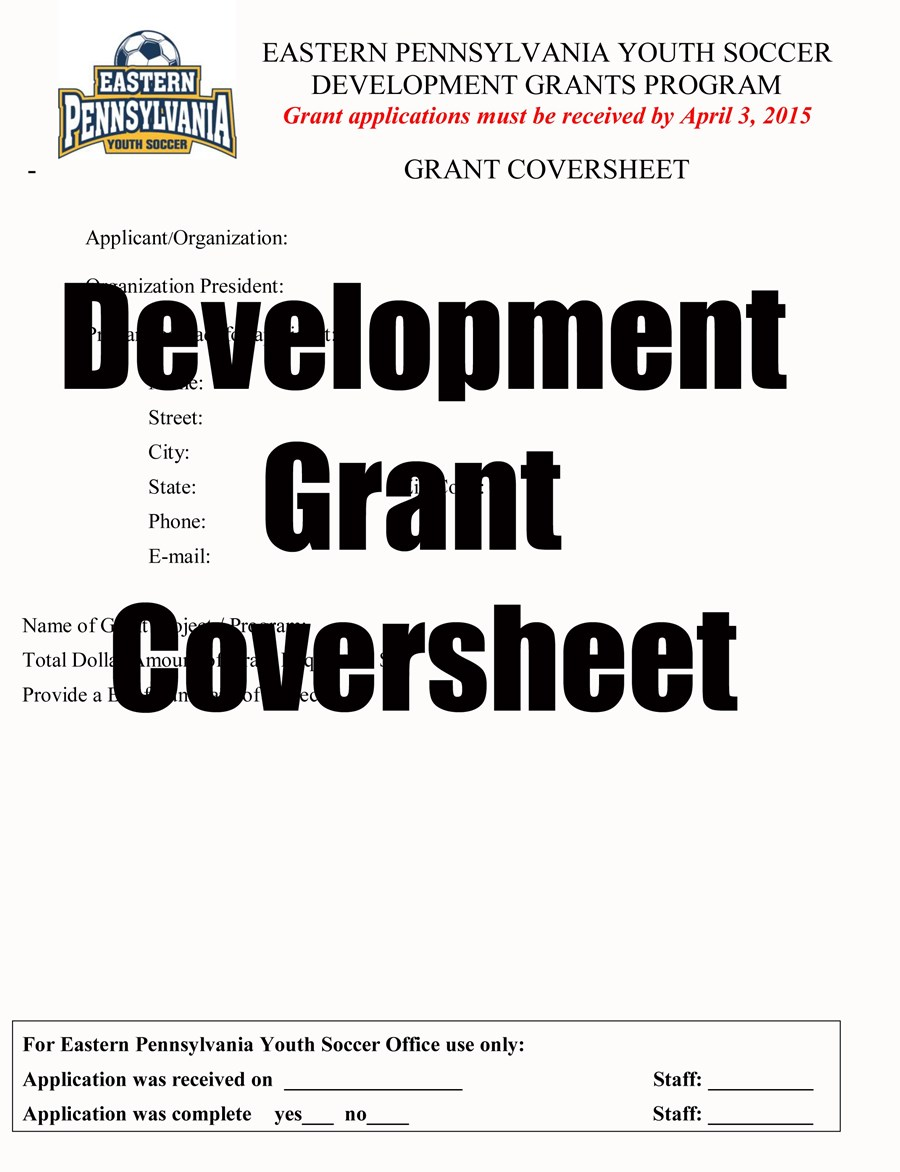 Grants Cover sheet image