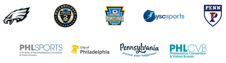 Logos for World Cup 2026 Philadelphia