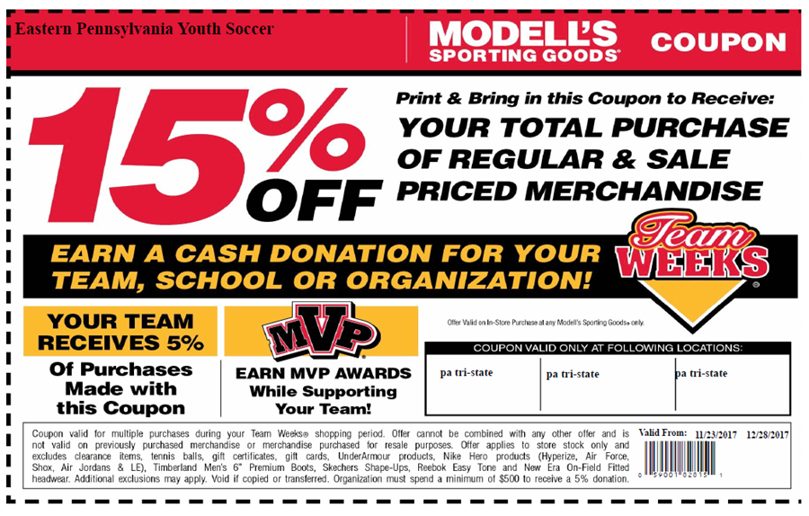 Modells Team week november