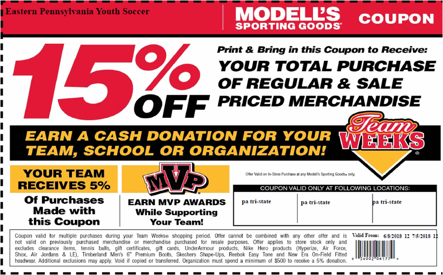 Modells team week June 2018 coupon