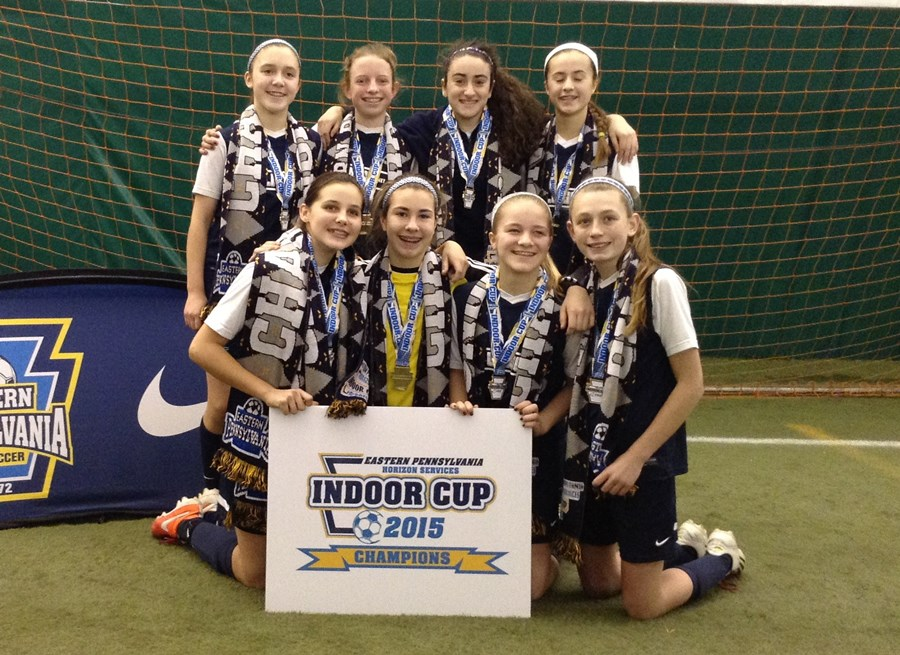 U13G Elite White Champions- Lower Merion SC Herricanes Red