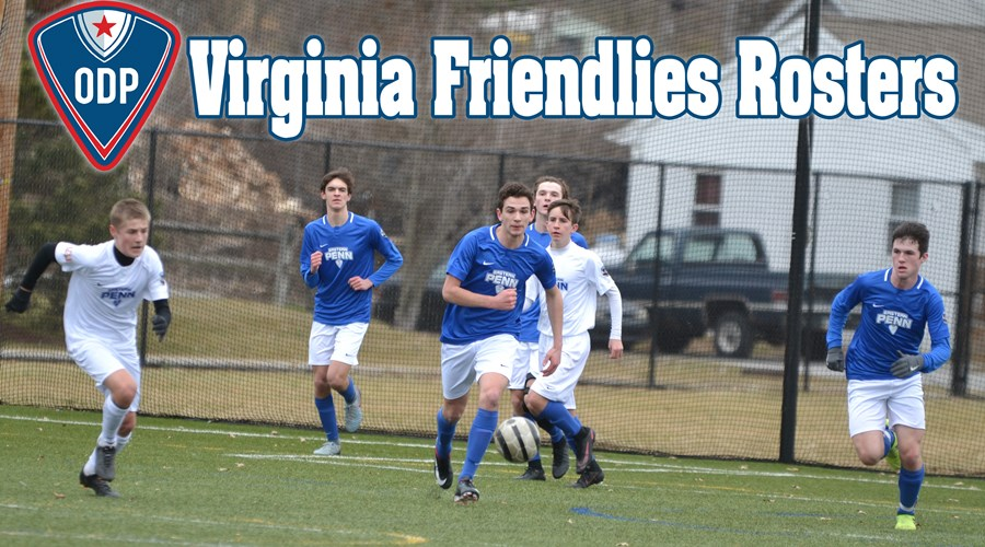 VA friendlies Rosters header