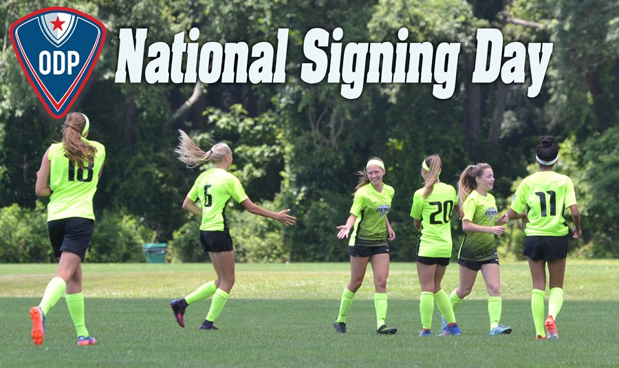 Website ODP National Signing Day