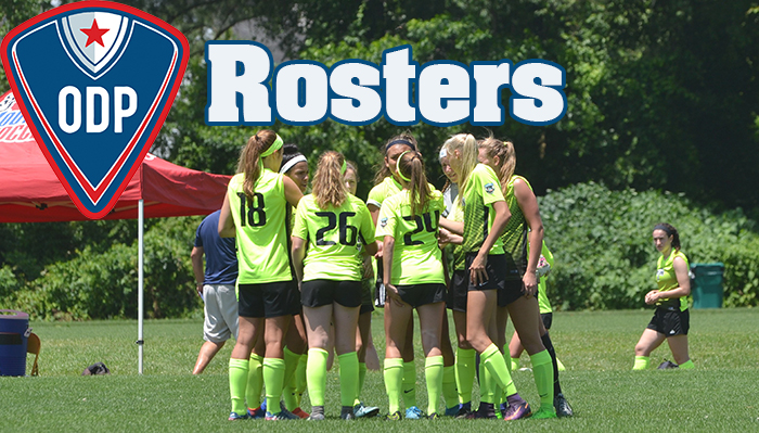 ODP Rosters GIrls webpage