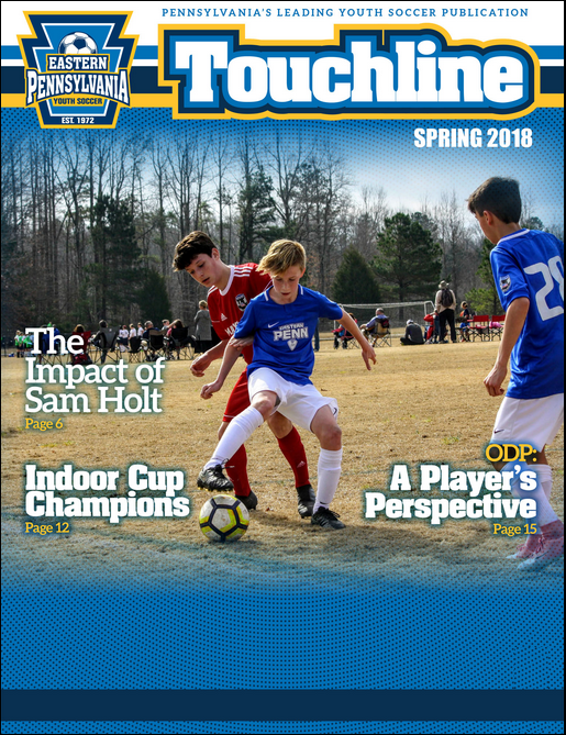 Touchline cover Spring 2018