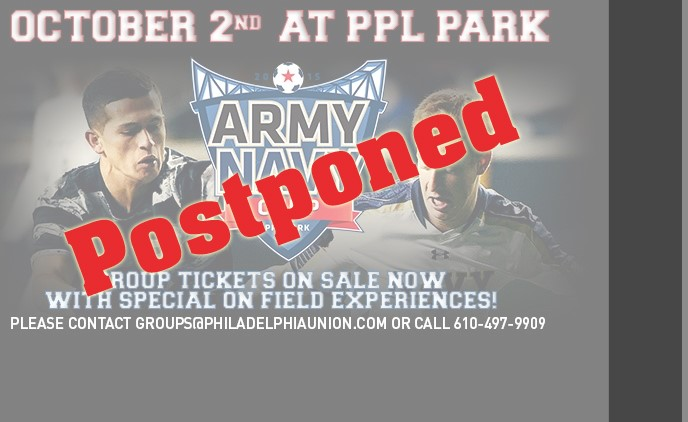 army navy postponed