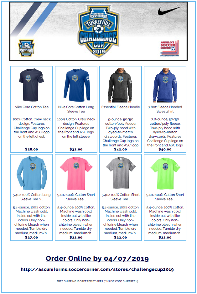 challenge cup online store graphic