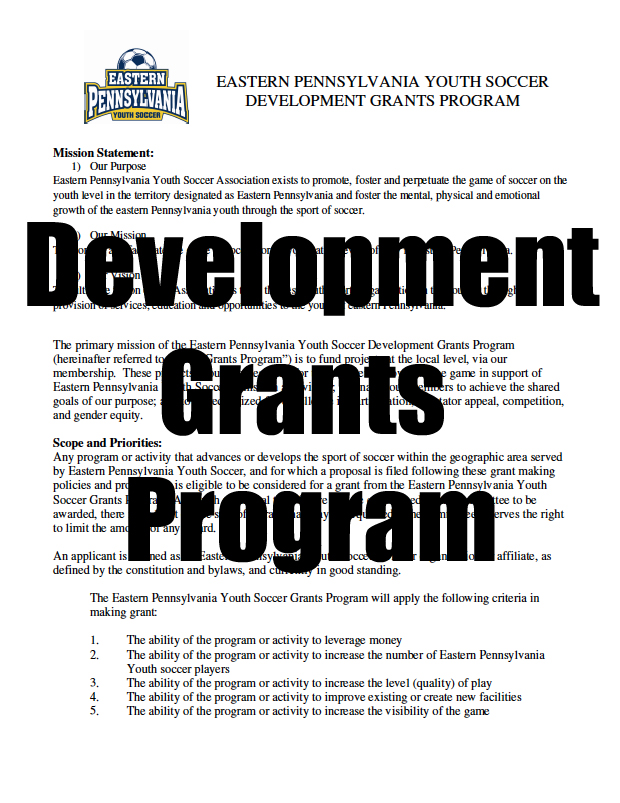 development grants