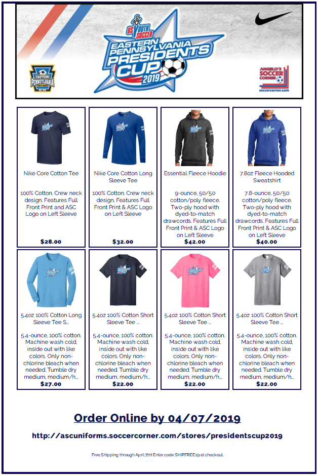 presidents cup online store graphic