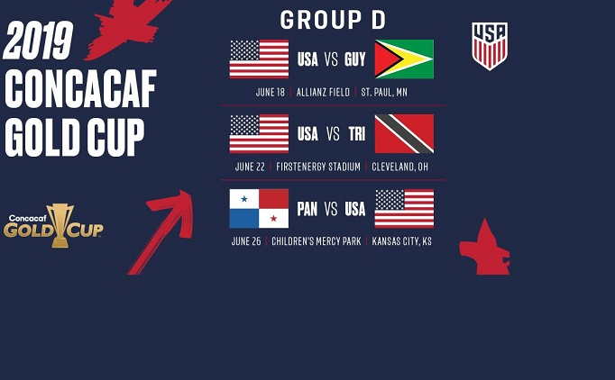 Gold Cup 2019 Schedule Announced