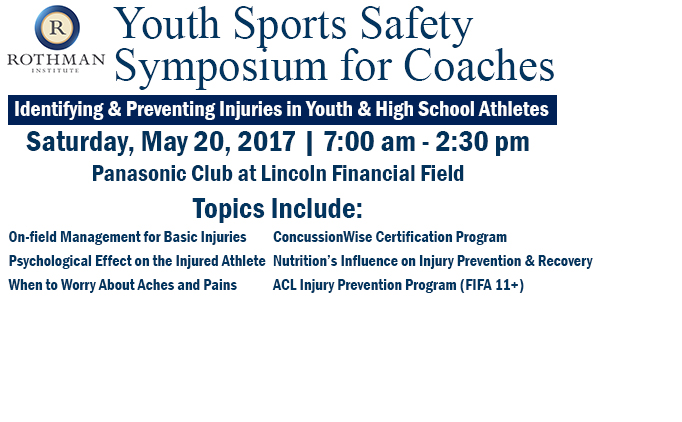 Rothman Institute Youth Sports Safety...