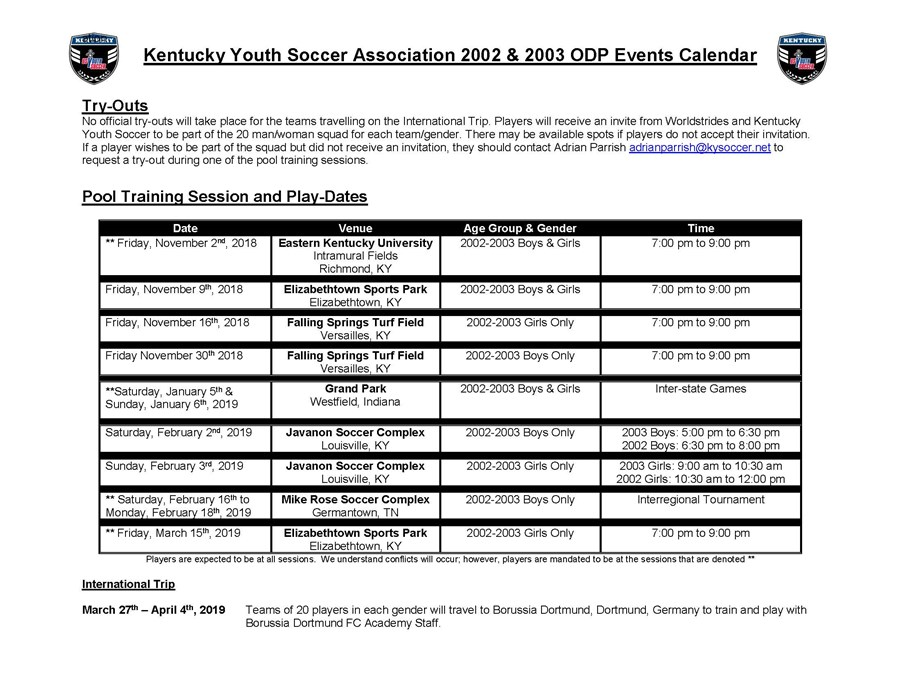 ODP Pool Calendar 02-03 Age groups