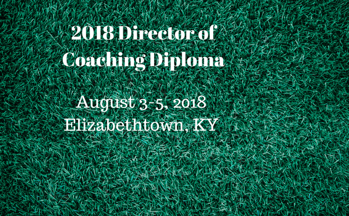Director of Coaching Diploma - August 3-5, 2018