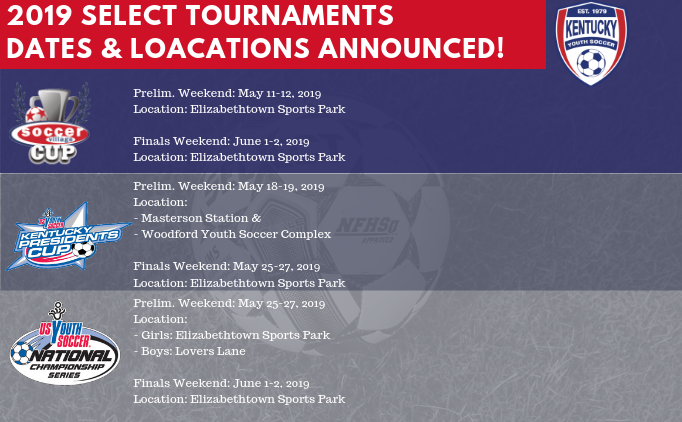 2019 Select Tournaments