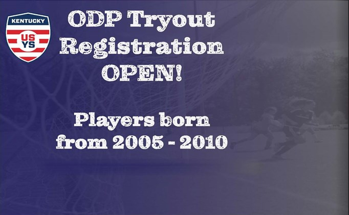 2019-2020 ODP Tryout Registration Open!