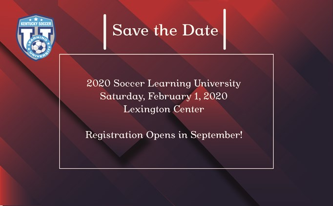 Save the Date - 2020 Soccer Learning University!