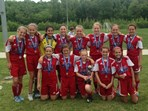 U12 Girls - Division 1 Champion - KHA Red