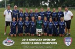 U13 Girls Champion - LFC 00 White