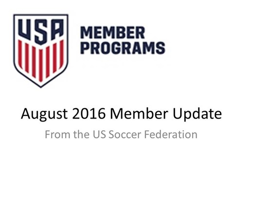 US Soccer Federation Member Update