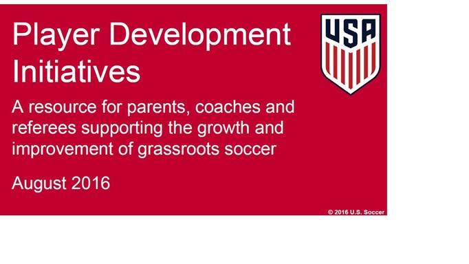 Player Development Initiatives Update