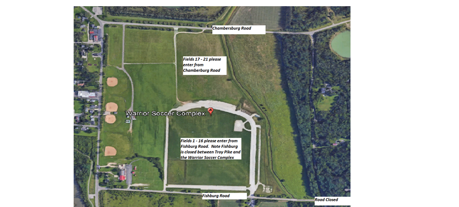 Warrior Soccer Complex - Road Map