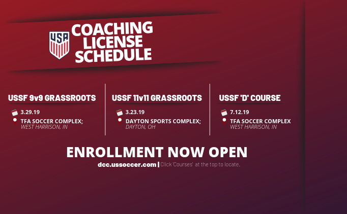 Upcoming Coaching License Courses