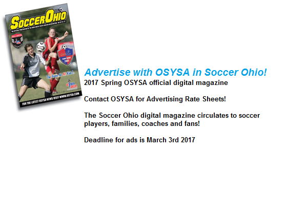 Advertise with OSYSA in Soccer Ohio!