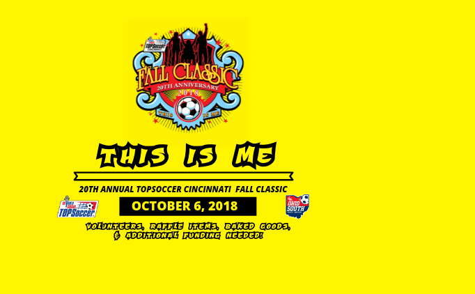 20th Annual Cincinnati TOPSoccer Fall Classic