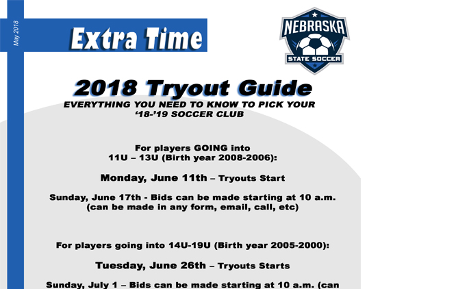 2018 Tryout Guide