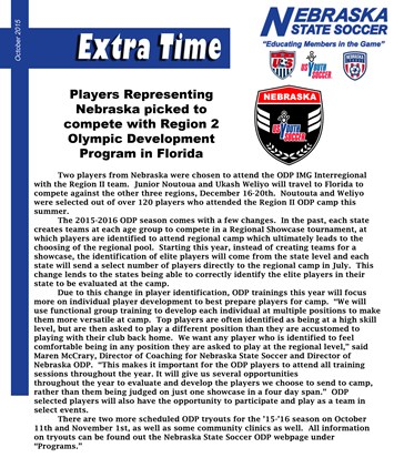 Newsletter: Extra Time October