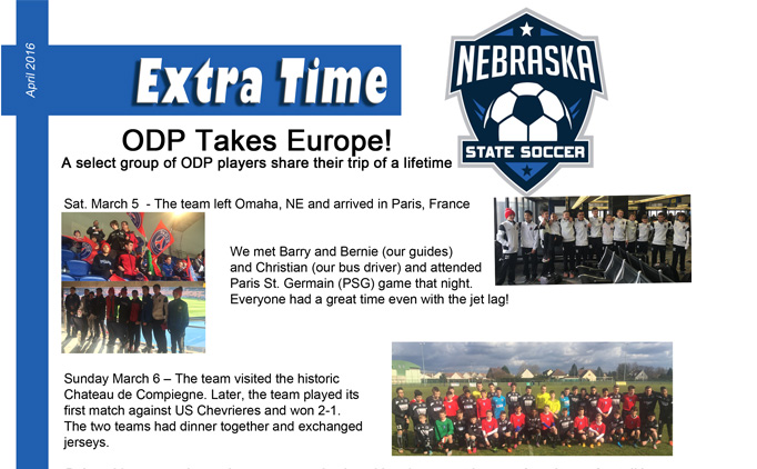 April Extra Time Newsletter