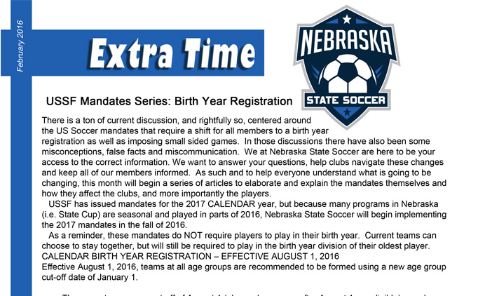 Extra Time Newsletter