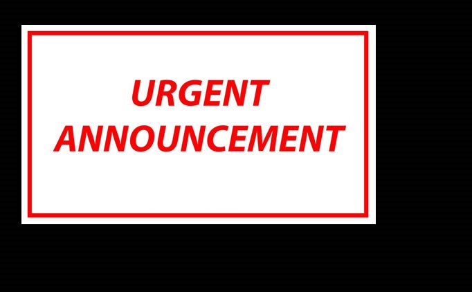 Urgent Announcement From WVSA