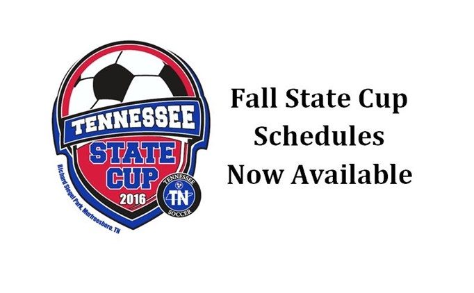 2015 Fall State Cup Schedule