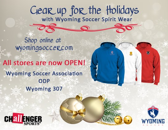 Shop for the Holidays with Wyoming Soccer
