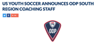 Finotti, Allison & Miller Named to ODP South Region Coaching Staff