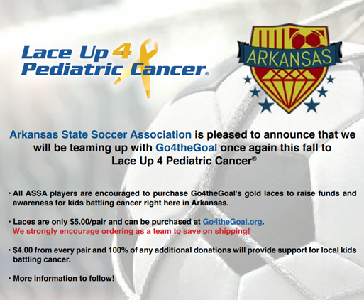 Lace up for Pediatric Cancer!