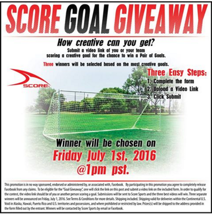 Score Sports Goal Giveaway!
