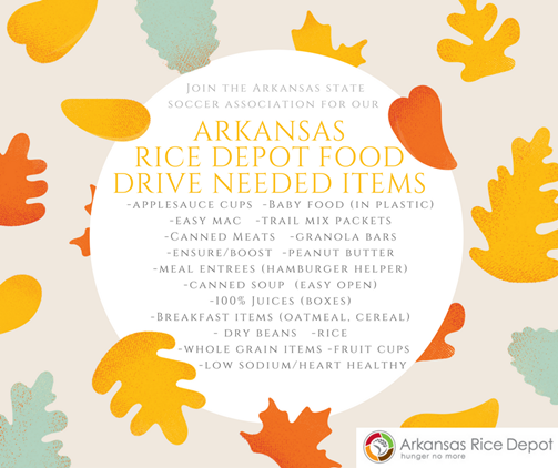 AR State Championships Food Drive