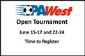Time To Register For The Open