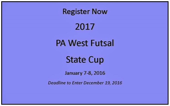PA West Futsal State Cup Registration