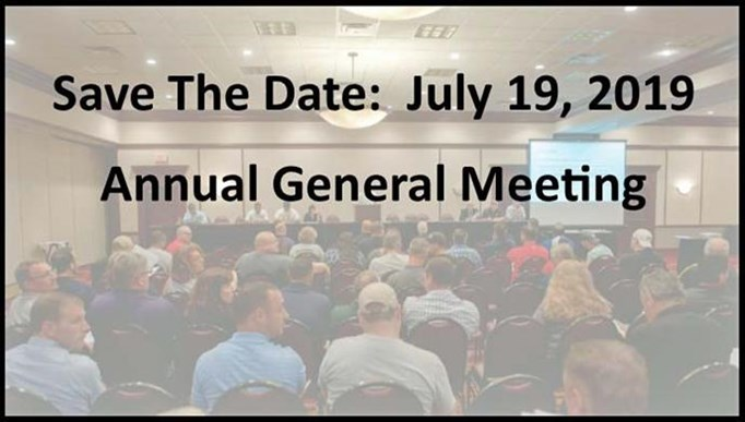 Save The Date - 2019 AGM Set