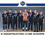 S Construction U16B champs