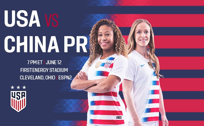 Don't miss the USWNT vs China in Cleveland