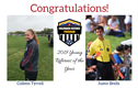 Colleen Tyrrell and Justin Brells Named Young Referees of the Year