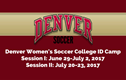 Denver Women's Soccer College ID Camp